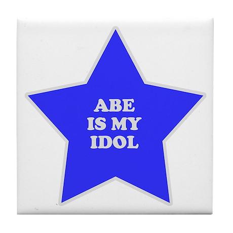 Abe Is My Idol Tile Coaster