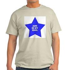 Abe Is My Idol Ash Grey T-Shirt