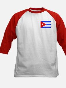 Cuban Flag Kids Baseball Jersey