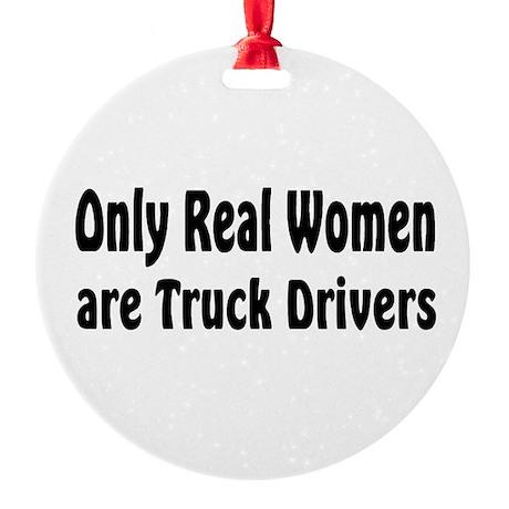 Truck Driver Round Ornament