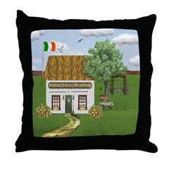 St. Patrick's Day Cottage Throw Pillow