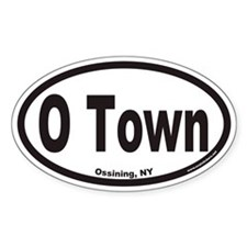 Ossining New York O Town Euro Oval Decal