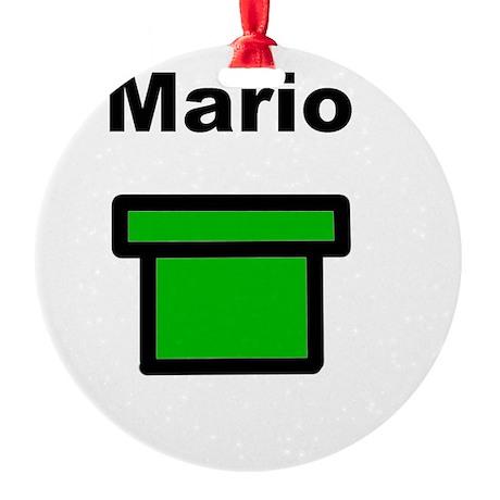 MArio Round Ornament