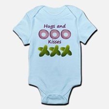 Hugs and Kisses with Onions and Pickles Infant Bod