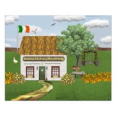 St. Patrick's Day Cottage Unframed Print