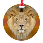 African Lion Round Ornament