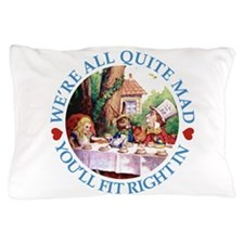 ALICE_ Were all Mad_BLUE copy.png Pillow Case