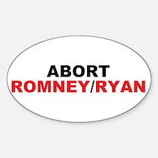 Abort Romney/Ryan Decal