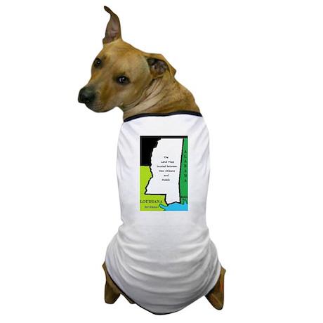 Land mass between NOLA and Mobile Dog T-Shirt