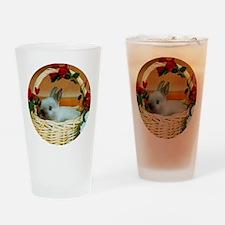 Basket Bunny Drinking Glass