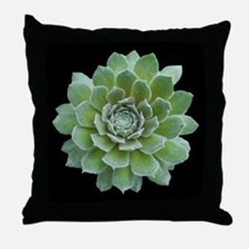 Agave on Black Throw Pillow