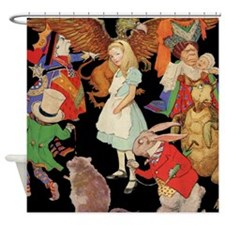 ALICE SQ.jpg Shower Curtain