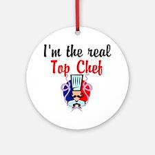 BEST CHEF Ornament (Round)