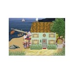 Lakeside Cottage Rectangle Magnet (10 pack)