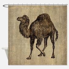 Vintage Camel Shower Curtain
