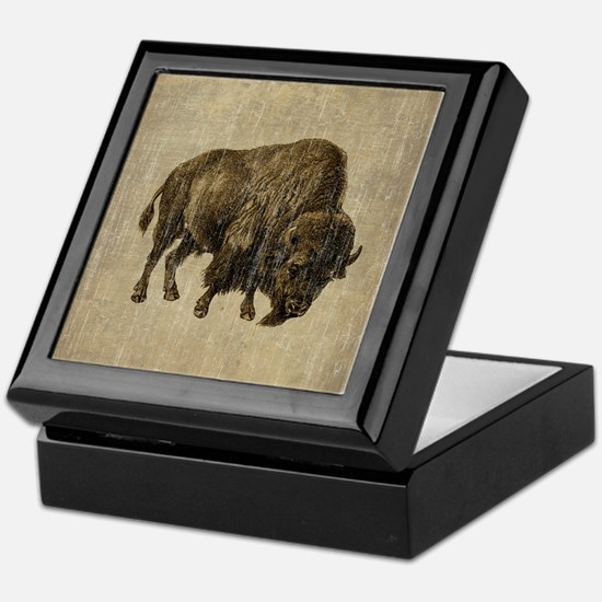 Vintage Bison Keepsake Box