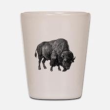 Vintage Bison Shot Glass