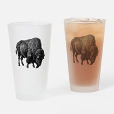 Vintage Bison Drinking Glass