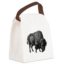 Vintage Bison Canvas Lunch Bag