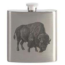 Vintage Bison Flask