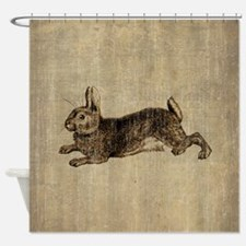 Vintage Rabbit Shower Curtain