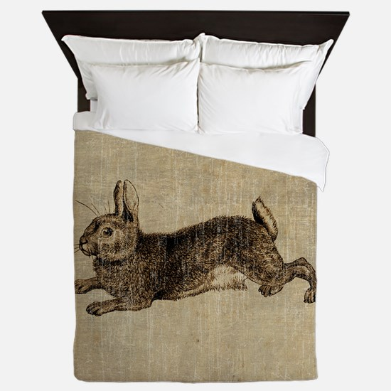 Vintage Rabbit Queen Duvet