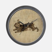 Vintage Rabbit Wall Clock