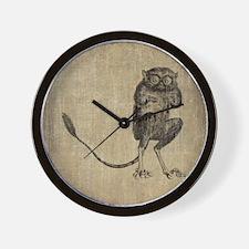 Vintage Lemur Wall Clock