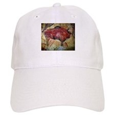 Vintage Bison Prehistoric Cave Painting Baseball Cap
