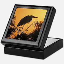 Sunset Heron Keepsake Box