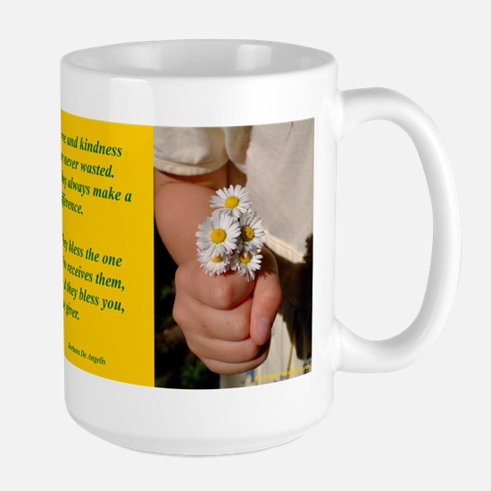 'Kindness Blesses' Large Mug
