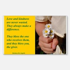 'Kindness Blesses' Decal