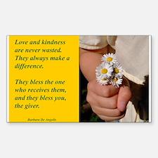 'Kindness Blesses' Sticker (Rectangle)