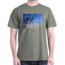 Santa Monica Beach Palm Trees T-Shirt