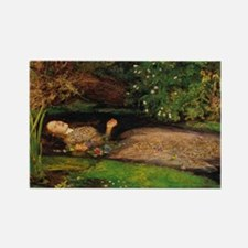 Ophelia by Millais Rectangle Magnet