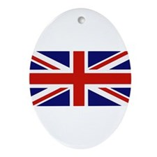 British Flag Ornament (Oval)