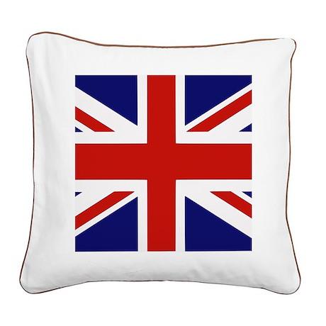 British Flag Square Canvas Pillow
