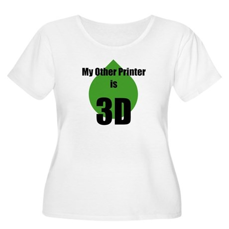 My Other Printer is 3D Women's Plus Size Scoop Nec