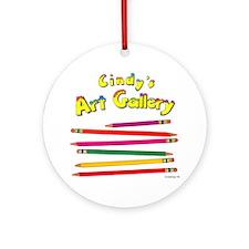 Colored Pencils Logo Ornament (Round)