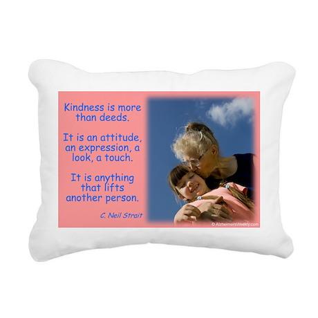 'Kindness Lifts' Rectangular Canvas Pillow