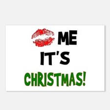 Kiss Me It's CHRISTMAS! Postcards (Package of 8)