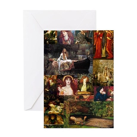 Pre-Raphaelite Collage Greeting Card