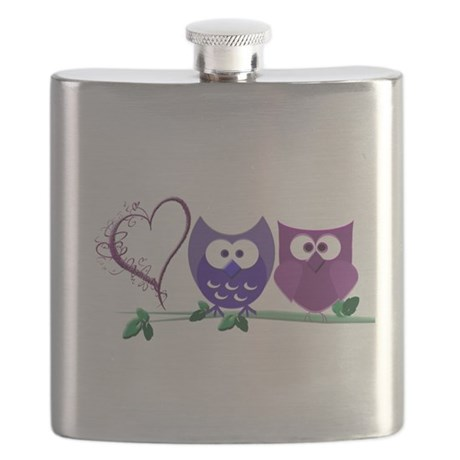 Cute owls and heart.png Flask