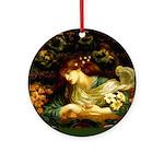 Rossetti Blessed Damozel Ornament (Round)