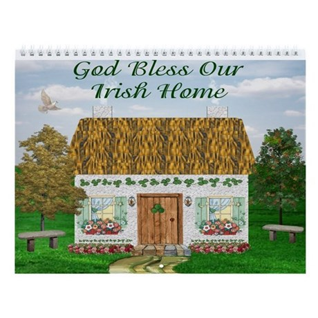 Irish Cottages (12 Designs) Wall Calendar