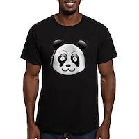 Go Panda! Men's Fitted T-Shirt (dark)