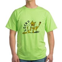 Cat Lick? Green T-Shirt