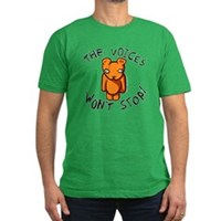 Teddy The Voices Won't Stop Men's Fitted T-Shirt (