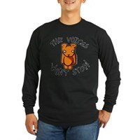 Teddy The Voices Won't Stop Long Sleeve Dark T-Shi