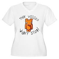 Teddy The Voices Won't Stop Women's Plus Size V-Ne